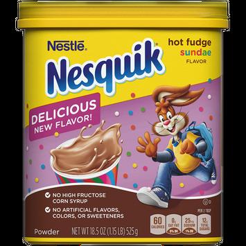 Nesquik Hot Fudge Sundae Flavored Powder 18.5 oz. Canister