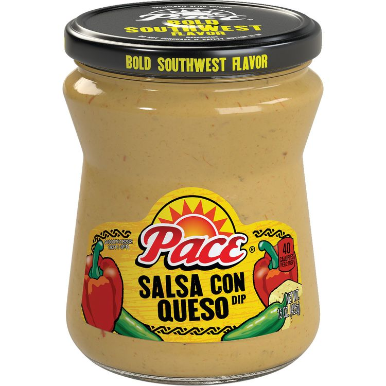 Pace® Salsa Con Queso Cheese Dip, Great for Nachos, 15 Ounce Jar