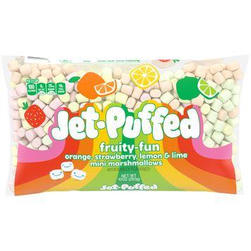 Jet-Puffed FunMallows Rainbow Colored Miniature Marshmallows, 10 oz Bag