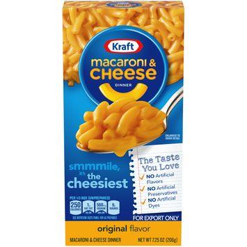 Kraft Original Flavor Macaroni & Cheese Dinner