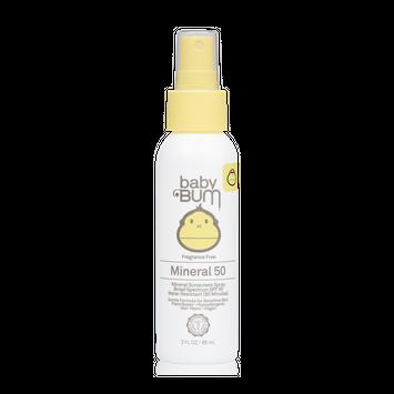 Sunbum Mineral SPF 50 Sunscreen Spray-Fragrance Free-Baby
