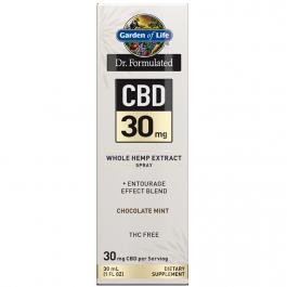 Garden Of Life Dr. Formulated CBD 30mg Whole Hemp Extract Spray Chocolate Mint - 30mL (1 FL OZ)