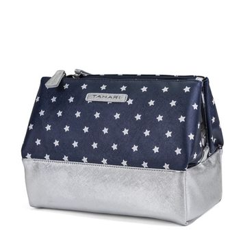 Tahari Pyramid Case Womens Cosmetic Bag Makeup Organizer With 3 Compartments