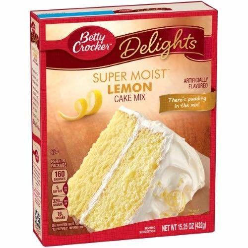Betty Crocker Supermoist Cake Mix, Lemon (Pack of 4)