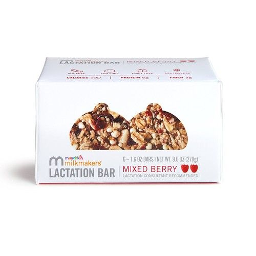 Milkmakers Lactation Bars, Mixed Berry, 6 Count [Mixed Berry]