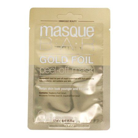 Masque Bar - Peel Off Facial Mask Gold Foil - 0.41 fl. oz.