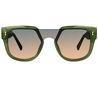 Women's Privé Revaux 27mm Love Valentina Polarized Square Sunglasses, Med Green