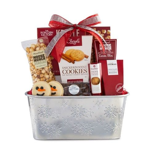 Sparkling Snow Grnd Sweets and Treats Gift Basket