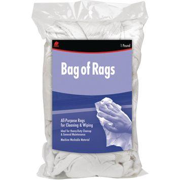 Buffalo Recycled White Sweatshirt Rags, 1 lb Bag