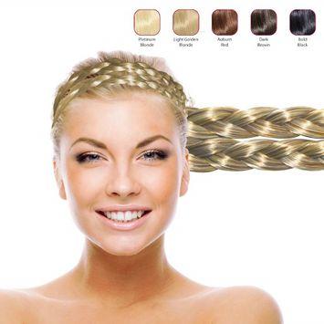 Hollywood Hair Double Braid Headband - Light Golden Blonde