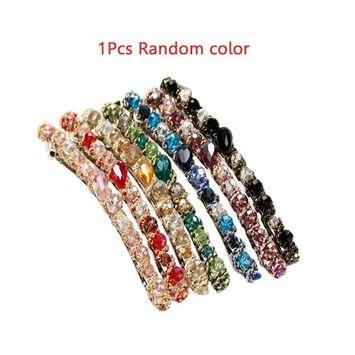 Rhinestone Hair Pins, Crystal Irregular Band Hairpin, Hair Clip Hair Accessories Barrettes Hair Styling Tool for Hairdressing