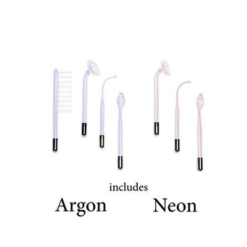 High Frequency Glass Tube Electrodes Argon (set of 4) and Neon ( set of 3)for Facial Machine Salon Spa Equipment