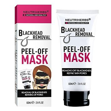 All Natural Activated Carbon Black Mask Mud, Blackhead Remover Peel Off Mask: Deeply Cleans Pores, Removes Dirt & Oil, Improves Acne, Brightens Skin.
