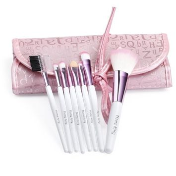 Tonewear Synthetic kabuki Makeup Cosmetics Foundation Brush Set (white)
