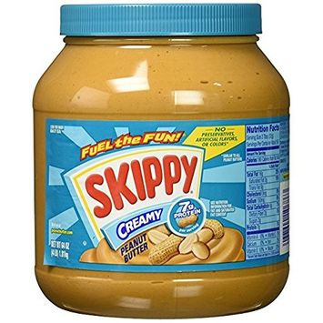 Skippy Peanut Butter, Creamy, 64 Ounce (Pack of 4)