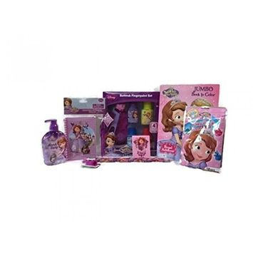 Disney Sofia the First Bath, Stationery and Activity Set with Gift Tote Bag