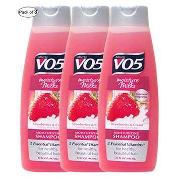 V05 Moisturizing Shampoo With Strawberries & Cream(443ml) (Pack of 3)