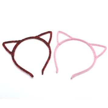 8PCS Cat Ear Headband Hair Band Fluffy Hair Hoop Headband for Party and Daily Accessories