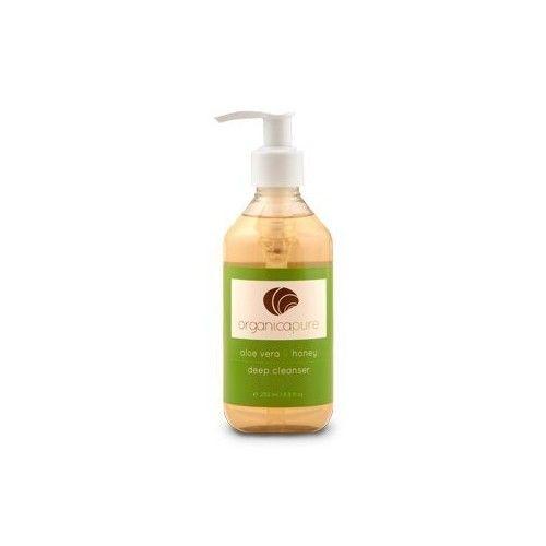 OrganicaPure Natural Organic Deep Facial Cleanser made with Aloe Vera & Honey - 8 oz.