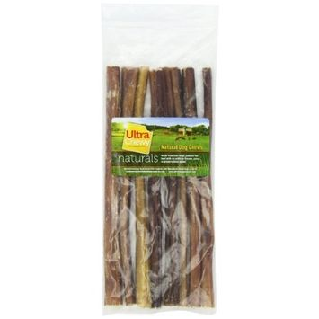 Rush Direct Ultra Chewy Naturals Odor-Free Thick Bully Sticks for Dogs, 12 Inch
