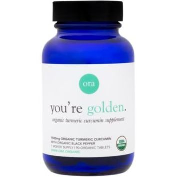 You're golden. Organic Turmeric Curcumin 1500 MG (90 Tablets) by Ora Organic at the Vitamin Shoppe