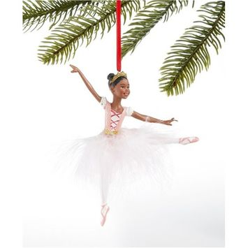 Ballet Ballerina with White Feather Tutu Ornament, Created for Macy's