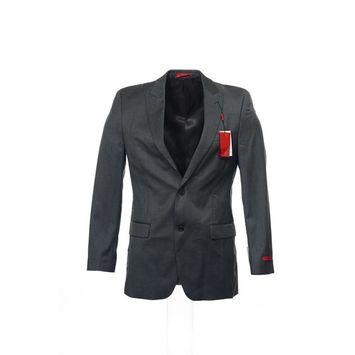 Alfani Red Mens Gray 2 Button Sport Coat