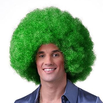 Sepia Costume Color Afro Synthetic Wig - Emerald
