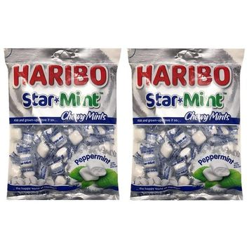 HARIBO Star Mint Chewy Peppermint Mint Candy 6.5oz