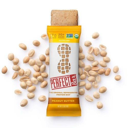 Perfect Bar Whole Food Organic Protein Bar, Gluten Free Peanut Butter, 2.5 Oz Bar (Pack of 8)