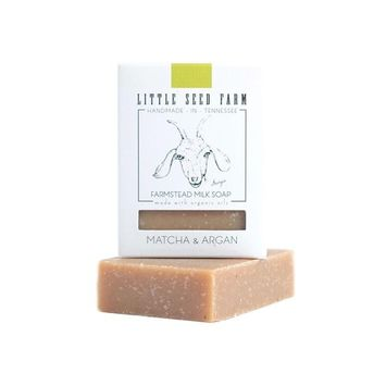 Little Seed Farm Bar Soap, Matcha & Argan, 4.75 Ounce