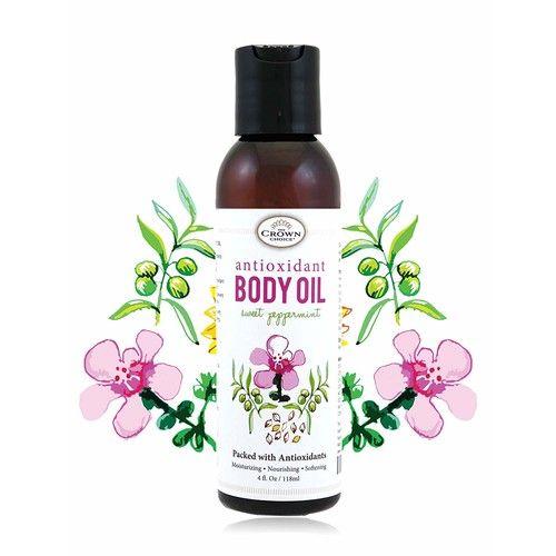 100% Natural Antioxidant Body Oil for Skin and Hair | Antioxidant Rich Moisturizing Oils Soothe Dry and Sensitive Skins | Desert Date, Manuka, Sunflower, Almond, Olive Oils & Vitamin E [Antioxidant Body Oil]