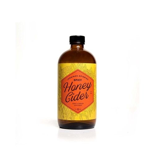 Spicy Honey Cider - Daily Apple Cider Vinegar and Honey Tonic - Help Fight Allergies and Colds Naturally - Made With Organic Ingredients - A Healthy Fire Elixir Made By Beekeepers