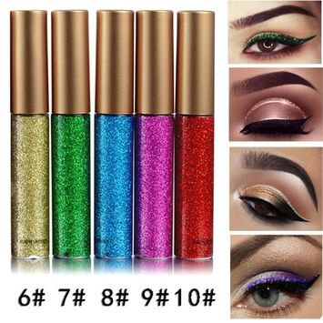 Coosa Glitter Liquid Eyeliner 5PCS Long Lasting Waterproof Sparkling Eyeliner Eye Shadow Pen – 5PCS-2