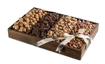 The Nuttery Ny The Nuttery Roasted Nuts Snack Serving Wooden Tray