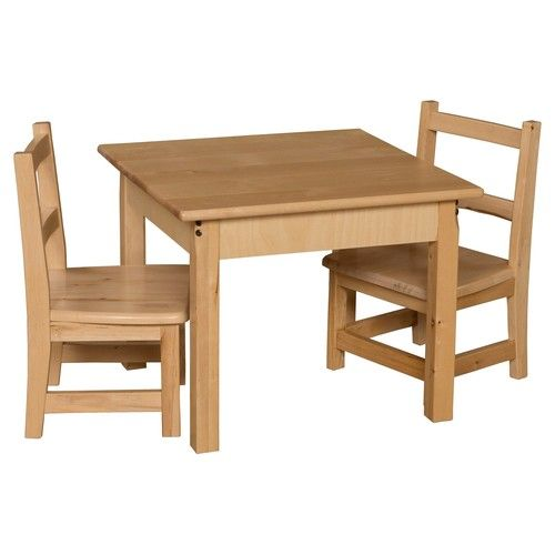 Wood Designs Square Table and Chair Set