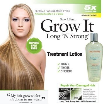 Want Longer Hair? Want Stronger Hair? Grow Hair Fast! Buy Long 'N Strong? Treatment Lotion - Longer, Thicker Hair! - Split End Repair - Split end treatment! by Rush Industries, Inc.
