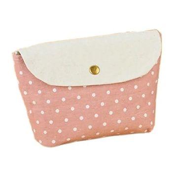 Brendacosmetic Multifunction Lovely Polka Dot Makeup bag Coin purse,Cosmetic bag Storage bag Handbag for arranging and storing