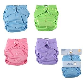 Luvable Friends All-In-One Reusable Diaper, Green