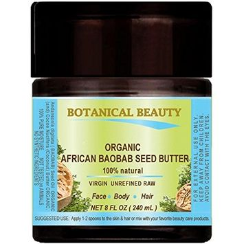 ORGANIC BAOBAB SEED OIL - BUTTER. 100 % Natural - RAW -VIRGIN - UNREFINED. For Skin, Hair, Lip and Nail Care.