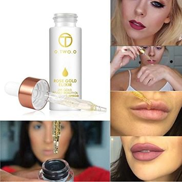 Fheaven Makeup Moisturizing Oil ,O.TWO.O Rose Gold Skin Make Up Essential Oil Moisturizing Face Oil For All Skin