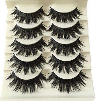 Okdeals 5 Pairs/set 3D Natural Cross False Eyelashes Eye lashes Makeup Tools