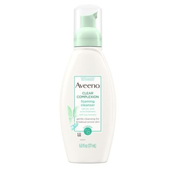 AVEENO® CLEAR COMPLEXION Foaming Salicylic Acid Face Cleanser For Sensitive Skin