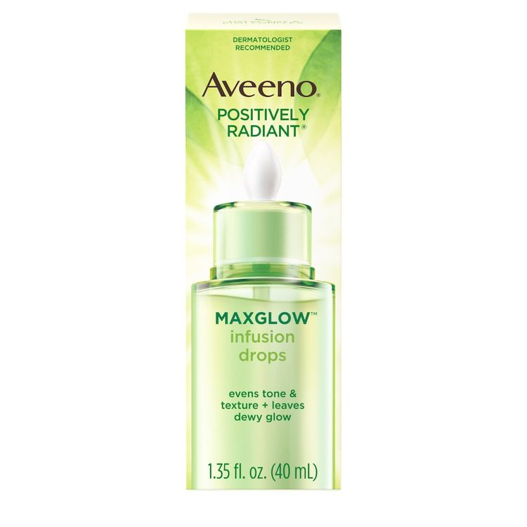 AVEENO® POSITIVELY RADIANT® MAXGLOW™ Infusion Drops With Soy To Even Skin Tone