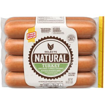Oscar Mayer Selects Natural Turkey Hot Dogs, 8 ct - 16 oz. Package
