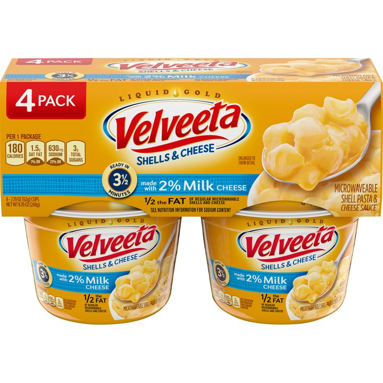 VELVEETA Shells and Cheese Cups Made with 2% Milk Cheese