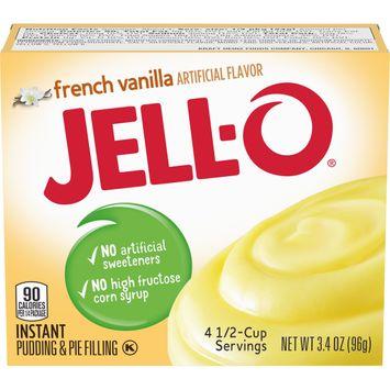 Jell-O French Vanilla Instant Pudding Mix, 3.4 oz Box