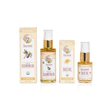 Badger Damascus Rose Cleansing Oil and Face Oil [Damascus Rose]