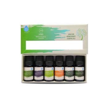 Pursonic 6 Piece 100% Pure Essential Aromatherapy Oils Gift Set