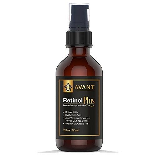 Clinical Grade Retinol Night Cream 2.5% for Face, Eyes and Neck area, Anti Aging Skin Moisturizer with Hyaluronic Acid. Wrinkle, Acne and Dark Spot Serum. USA Natural & Organic.